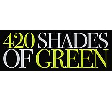 420 SHADES OF GREEN Photographic Print