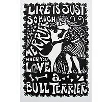 Bull Terrier Paper Cut Photographic Print