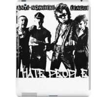 Anti-Nowhere League I Hate People iPad Case/Skin