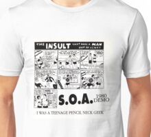 STATE OF ALERT S.O.A. - I WAS A TEENAGE PENCIL NECK GEEK Unisex T-Shirt