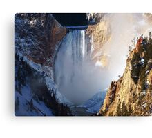 Powerful force of water Canvas Print