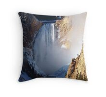 Powerful force of water Throw Pillow