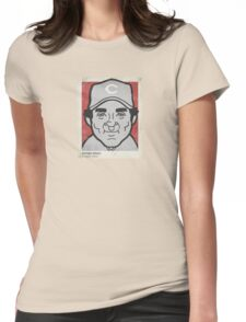 Johnny Bench Caricature Womens Fitted T-Shirt