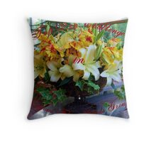 Top Ten Challenge Winner in Gorgeous Flower Cards Throw Pillow