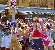 Dancing in the Coney Island Street by smilku