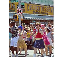Dancing in the Coney Island Street Photographic Print