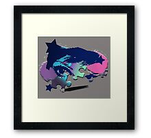 Painted Puzzle Girl Framed Print