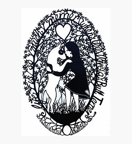 Life Is So Much Merrier When You Love A Bull Terrier Photographic Print