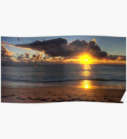 Coronation Beach sunset, WA Poster