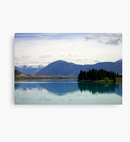 Lake Ruataniwha New Zealand landscape Canvas Print