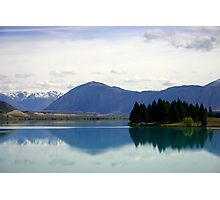 Lake Ruataniwha New Zealand landscape Photographic Print
