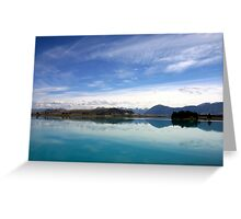Lake Ruataniwha, New Zealand landscape 2 Greeting Card