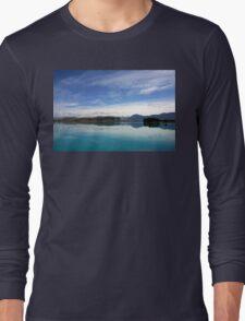 Lake Ruataniwha, New Zealand landscape 2 Long Sleeve T-Shirt