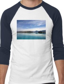 Lake Ruataniwha, New Zealand landscape 2 Men's Baseball ¾ T-Shirt