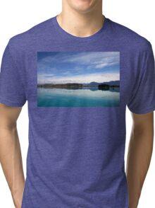 Lake Ruataniwha, New Zealand landscape 2 Tri-blend T-Shirt
