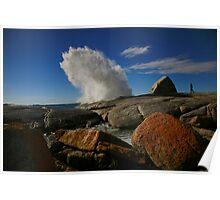 coast line blowhole. bicheno, tasmania Poster