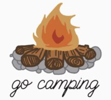 go camping campfire art by youtuber-club