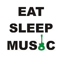 eat sleep music Photographic Print