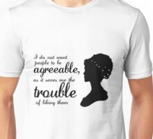 Jane Austen-inspired Quote Unisex T-Shirt