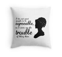 Jane Austen-inspired Quote Throw Pillow
