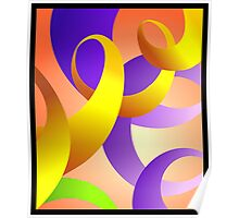Abstract paintings of different colours Poster