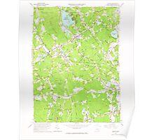 Massachusetts  USGS Historical Topo Map MA Norton 350404 1964 24000 Poster
