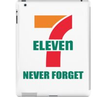 7 Eleven Never Forget iPad Case/Skin