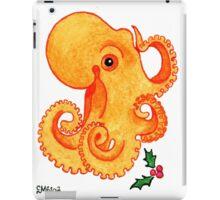 2013 Holiday ATC 9 - Orange Octopus and Holly iPad Case/Skin