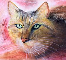 Green Eyes- Pastel painting by Esperanza Gallego