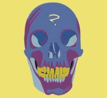 Neon Pixel Psychaedelic Halloween Skull  by taiche