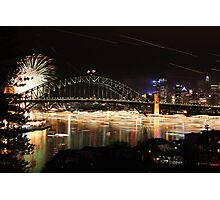 The Harbour over a long night Photographic Print