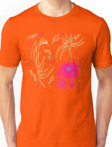 Peaceful-Yellow & Fuschia Floral Unisex T-Shirt