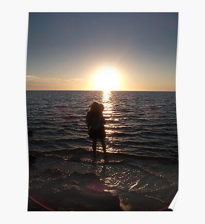 Staring into the sunset, Ningaloo, WA Poster