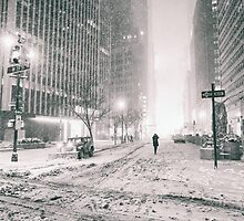 New York City - Winter - Empty Streets by Vivienne Gucwa