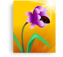 Honey tasting insect from the beautiful sun shining flower	 Canvas Print