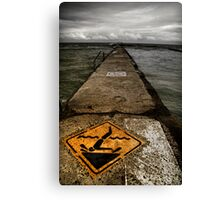 Tidal Pool - Warning! Canvas Print
