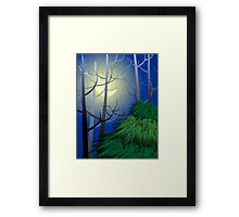 Beauty of nature in the moon light	 Framed Print