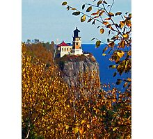 """Split Rock Lighthouse ~ Autumn"" Photographic Print"