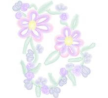 Peaceful-Pastel Watercolor Floral Photographic Print