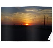 Melbourne Airport Sunset Poster