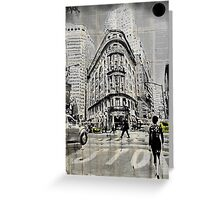 midtown walk N.Y. Greeting Card