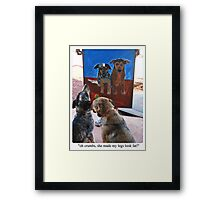 Oh crumbs! Framed Print