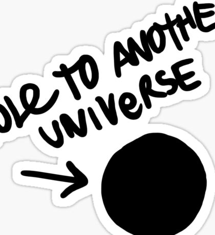 Hole To Another Universe Graffiti (Life is Strange)-- Tilted Sticker
