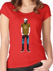 Hipster Bin Laden Women's Fitted Scoop T-Shirt