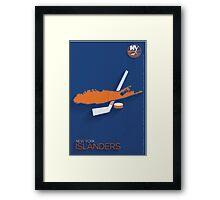 New York Islanders Minimalist Print Framed Print