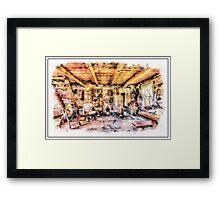 Swiss One Room Cabin Framed Print