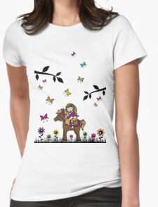Horsey Lover Womens Fitted T-Shirt