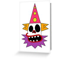 Clown Bed Greeting Card