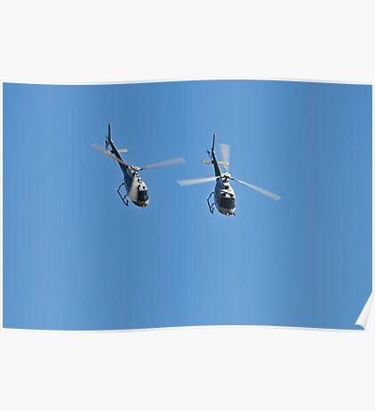 Duet of Helicopters, Up Close! Poster