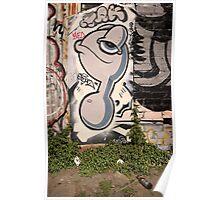 Fitzroy back street art Poster